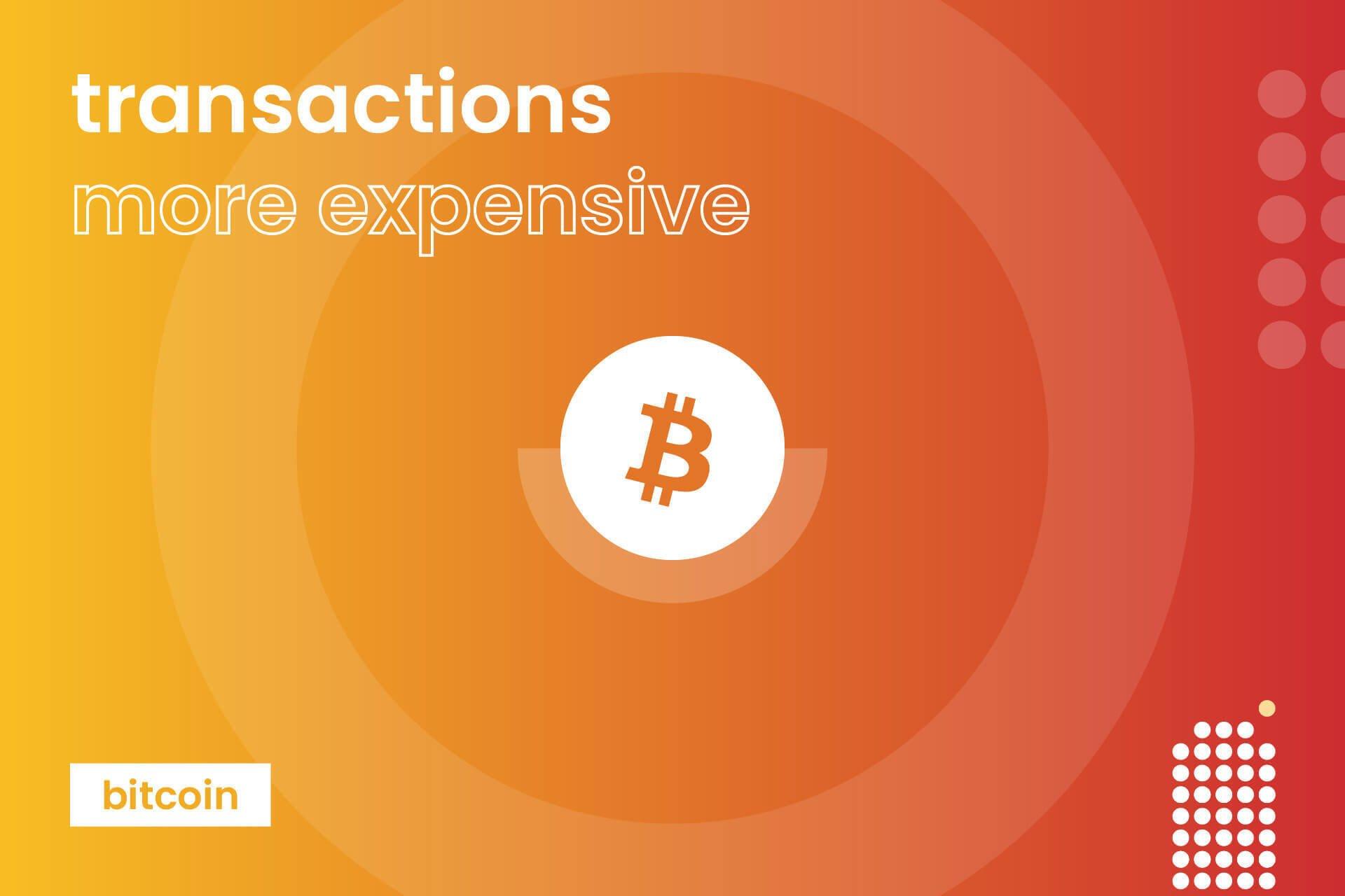 <bold>Bitcoin</bold> <bold>transaction</bold> <bold>fee</bold> increased before May