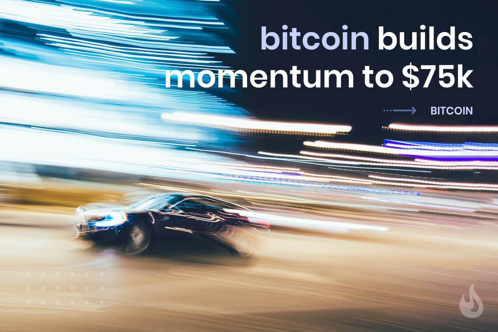 Bitcoin reach 75k dollars