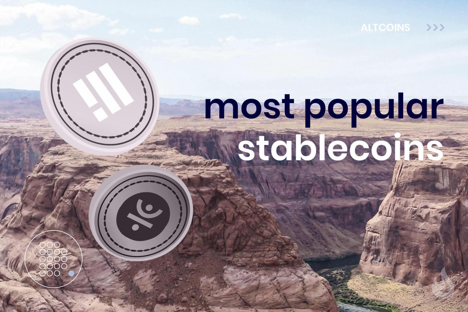 Most popular stablecoins