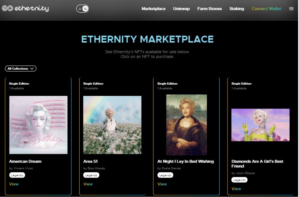 nft platforms eternity marketplace